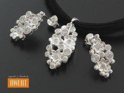 LUSIA komplet srebrnej biżuterii z cyrkoniami
