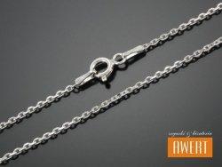 ANKIERKA łańcuszek srebrny diamentowany 60 cm / 1,4 mm
