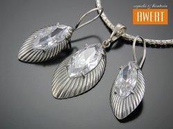 HORYN CRYSTAL srebrny komplet biżuterii z cyrkoniami