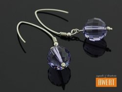 DISCO VIOLET srebrne kolczyki z kryształami