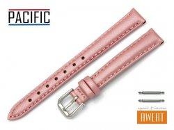 PACIFIC 14 mm pasek skórzany W114 różowy perłowy