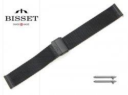 BISSET 20 mm bransoleta stalowa mesh BM102 czarna