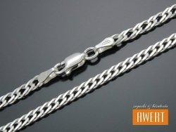 ROMB PODWÓJNY łańcuszek srebrny 45 cm / 4 mm