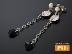 CORTINO srebrne kolczyki kryształy Swarovski
