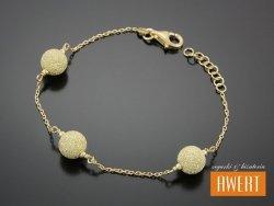 BEAD GOLD SAND srebrna bransoletka na rękę 19 cm