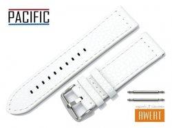 PACIFIC 24 mm pasek skórzany W45 biały