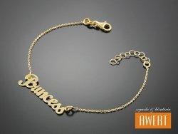 PRINCESS srebrna bransoletka pozłacana