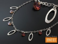 CESENA srebrny naszyjnik kryształy Swarovski