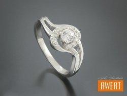 DELICE CRYSTAL srebrny pierścionek z cyrkoniami roz. 14