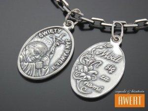 Medalik srebrny Św. Jan Paweł II dwustronny