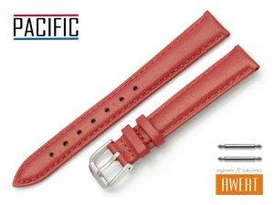 PACIFIC 14 mm pasek skórzany W114 czerwony perłowy