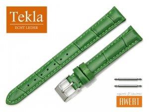 TEKLA 14 mm pasek skórzany PT41 zielony
