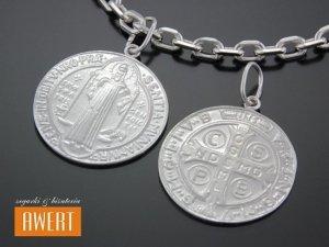 Medalik srebrny Św. Benedykt - duży