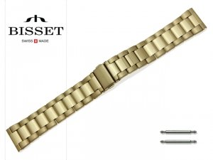BISSET 20 mm bransoleta stalowa BR108 złota