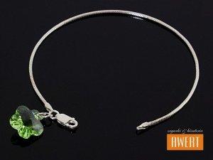 FLOWER PERIDOT BANGLE bransoletka na ręke z kryształami SWAROVSKI