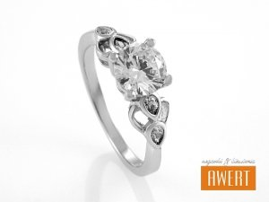 BITOLA CRYSTAL srebrny pierścionek z cyrkoniami roz. 15