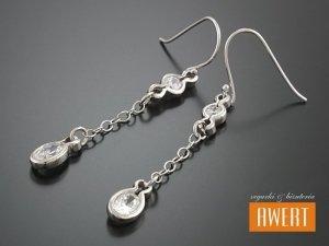 CARRIE CRYSTAL kolczyki srebrne z cyrkoniami