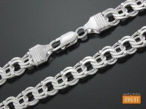 GARIBALDI łańcuch srebrny 60 cm / 10 mm