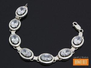 AIOFE srebrna bransoleta z dużymi cyrkoniami