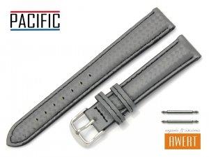 PACIFIC 18 mm CARBON pasek skórzany W76 czarne szycie