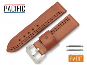 PACIFIC 24 mm pasek skórzany W119 brązowy