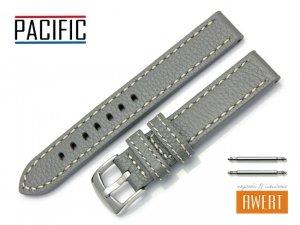 PACIFIC 18 mm pasek skórzany W22 szary