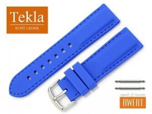 TEKLA 24 mm pasek silikonowy TS01 niebieski
