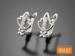 CINE CRYSTAL kolczyki srebrne z cyrkoniami