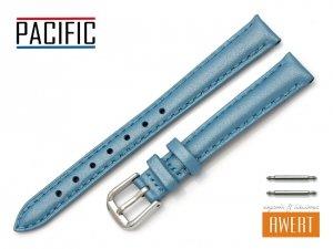 PACIFIC 12 mm pasek skórzany W114 niebieski perłowy