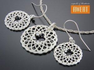 ADELE CRYSTAL srebrny komplet z cyrkoniami
