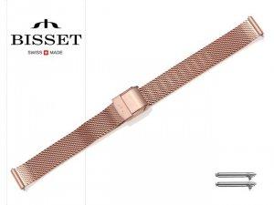BISSET 12 mm bransoleta stalowa mesh BM101 złota