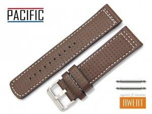 PACIFIC 24 mm pasek skórzany W40 brązowy