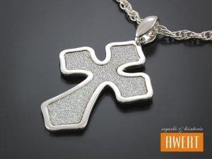 Krzyżyk srebrny ozdobny