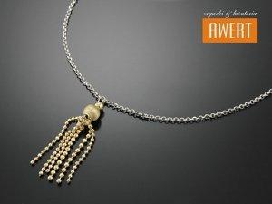RATNE GOLD srebrny naszyjnik złocenie