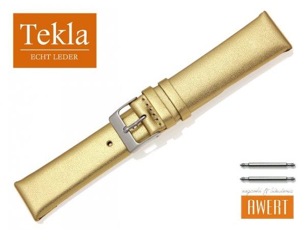 TEKLA 20 mm pasek skórzany PT11 złoty