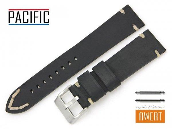 PACIFIC 22 mm pasek skórzany W93 czarny W93-1WH-22