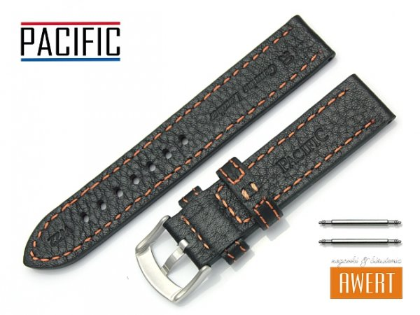PACIFIC 20 mm pasek skórzany W22 czarny
