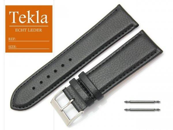 TEKLA 24 mm pasek skórzany PT10 czarne szycie
