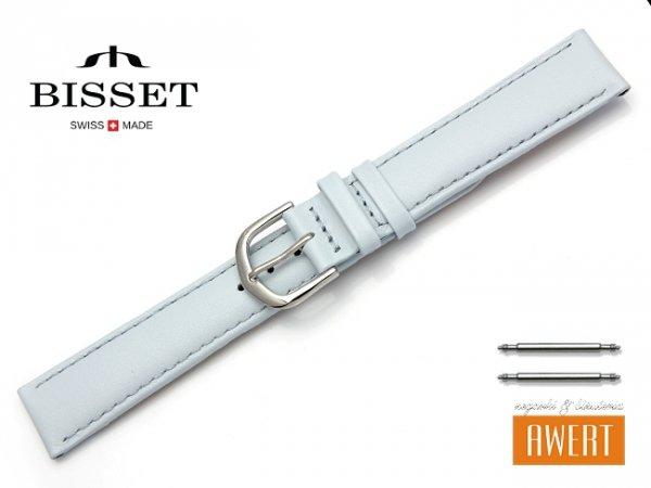 Pasek skórzany do zegarka 18 mm BISSET BS112 niebieski