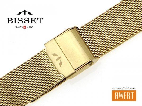 BISSET 20 mm bransoleta stalowa mesh BM101 złota BM101-9-20