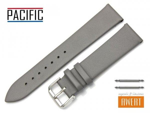 PACIFIC 20 mm pasek skórzany W86 szary