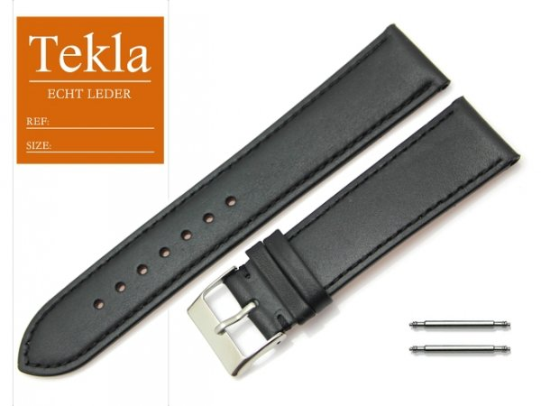 TEKLA 22 mm XL pasek skórzany PT69 czarny