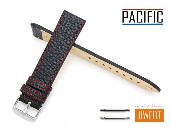 PACIFIC 22 mm pasek skórzany W92 czarny W92-1RE-22