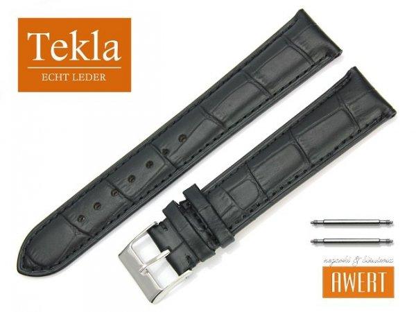 TEKLA 20 mm XL pasek skórzany PT41 czarne szycie