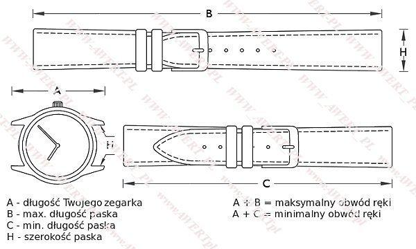 DILOY 26 mm pasek skórzany 327