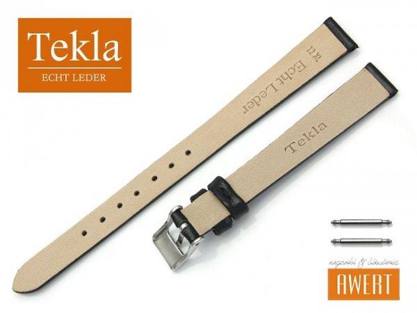 Pasek do zegarka TEKLA PT26 skórzany 12 mm XL czarny