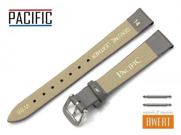 PACIFIC 14 mm pasek skórzany W86 szary