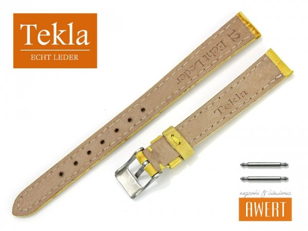 TEKLA 12 mm pasek skórzany PT41 żółty