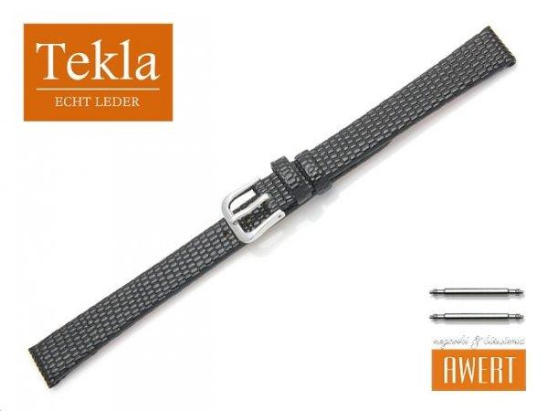 Pasek skórzany do zegarka 12 mm XL TEKLA PT34 czarny