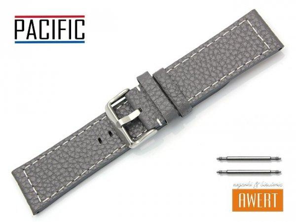 PACIFIC pasek skórzany do zegarka szary W45